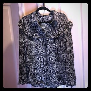 Animal print blouse with tags